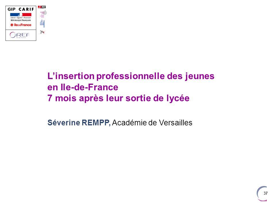 L'insertion professionnelle des jeunes en Ile-de-France