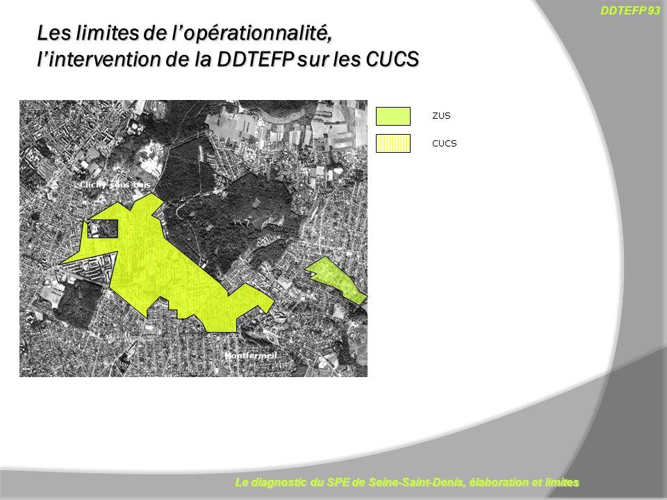 Les limites de l'opérationnalité, l'intervention de la DDTEFP sur les CUCS