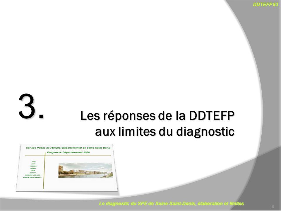 3. Les réponses de la DDTEFP aux limites du diagnostic