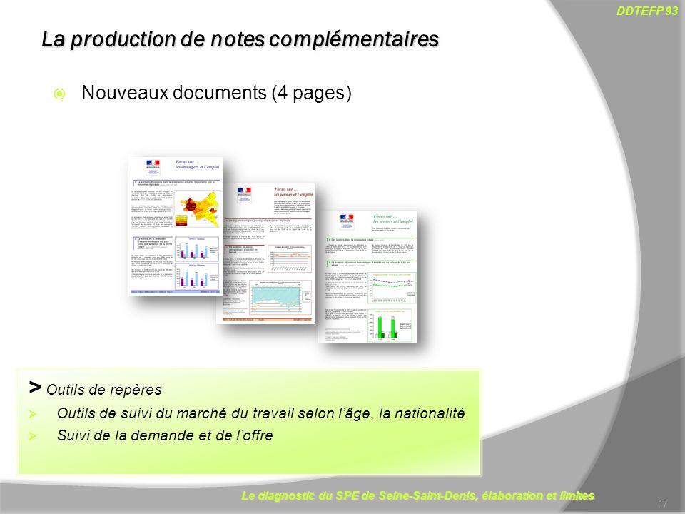 La production de notes complémentaires