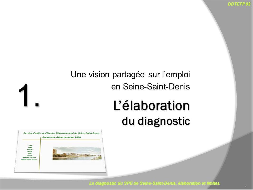 1. L'élaboration du diagnostic Une vision partagée sur l'emploi