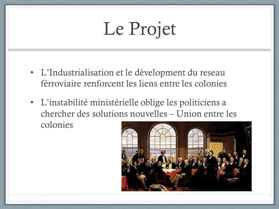 Le Projet L'Industrialisation et le dévelopment du reseau férroviaire renforcent les liens entre les colonies.