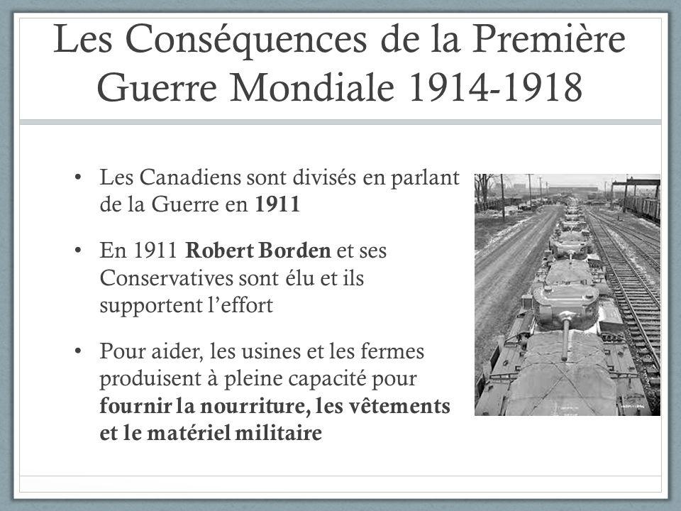 Les Conséquences de la Première Guerre Mondiale 1914-1918