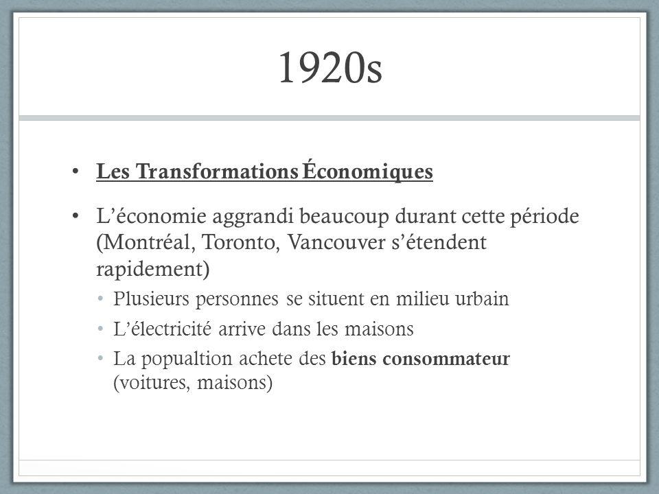 1920s Les Transformations Économiques