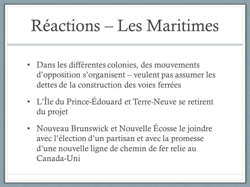 Réactions – Les Maritimes