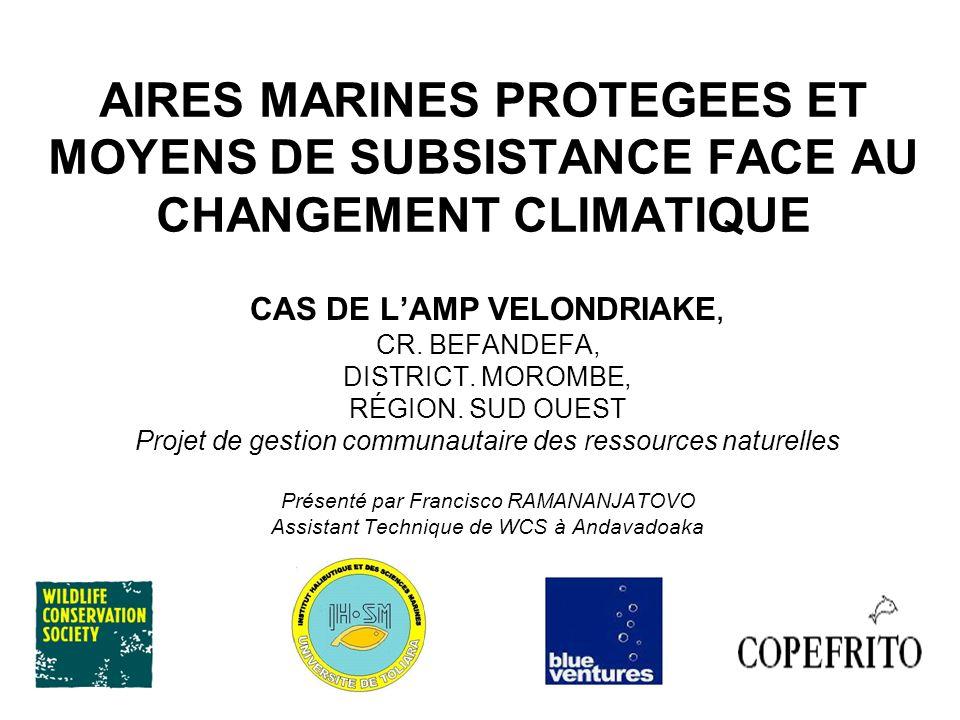 AIRES MARINES PROTEGEES ET MOYENS DE SUBSISTANCE FACE AU CHANGEMENT CLIMATIQUE