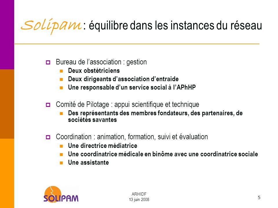 Solipam : équilibre dans les instances du réseau