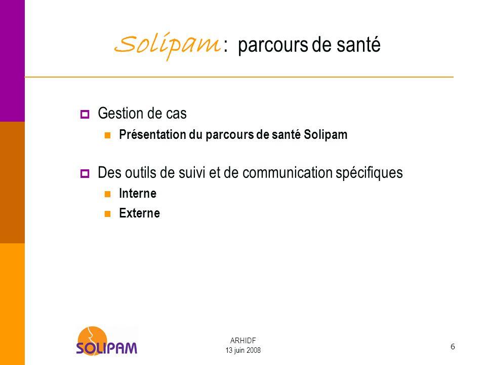 Solipam : parcours de santé