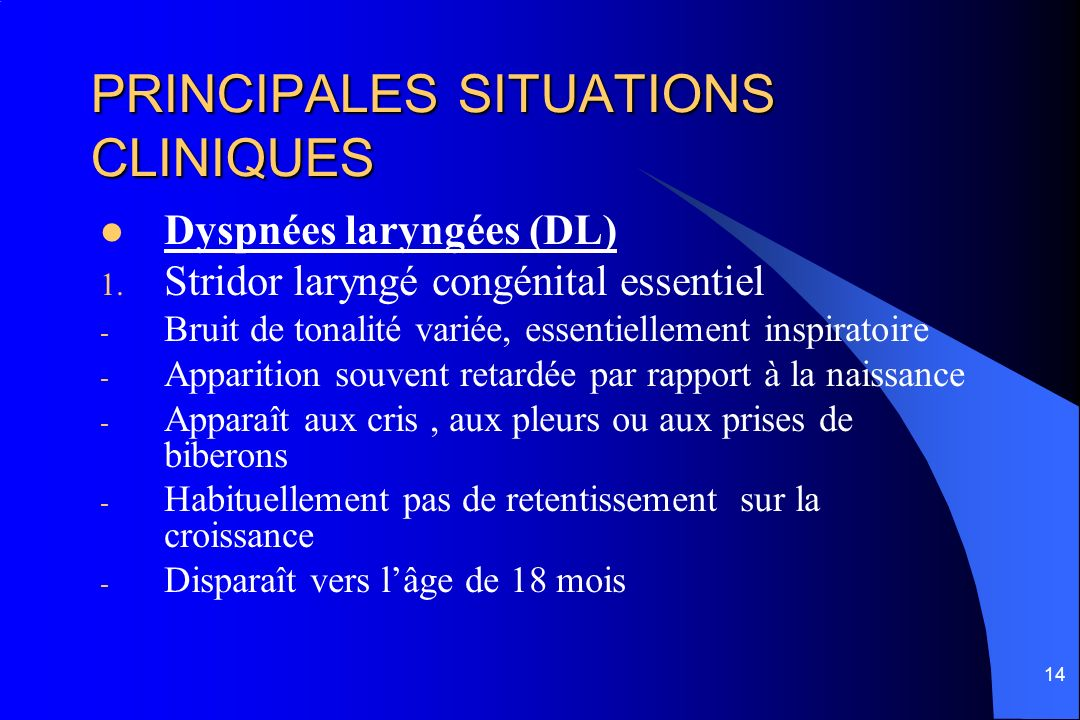 PRINCIPALES SITUATIONS CLINIQUES