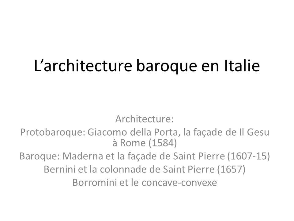 Le bernin architecte le bernin nous avons vu a beaucoup for L architecture baroque