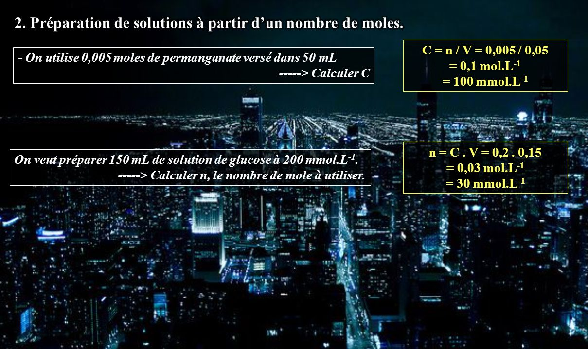 Pr paration de solutions titre td ppt video online for Calculer le nombre de parpaing