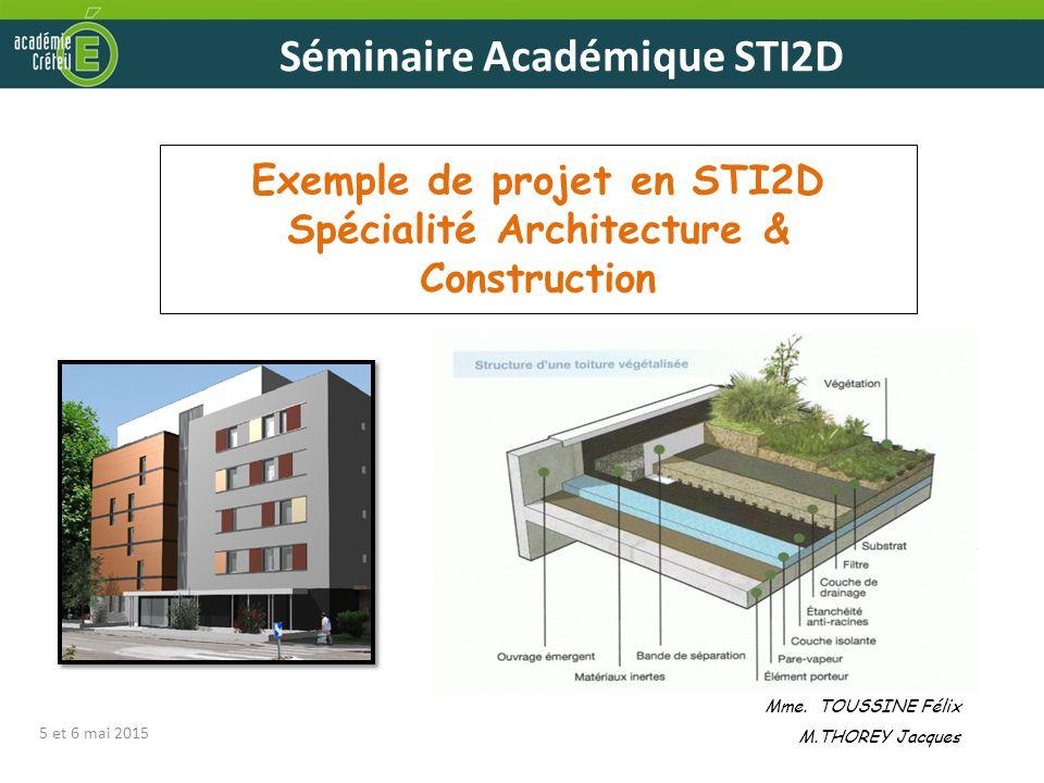 Exemple de projet en STI2D Spécialité Architecture & Construction