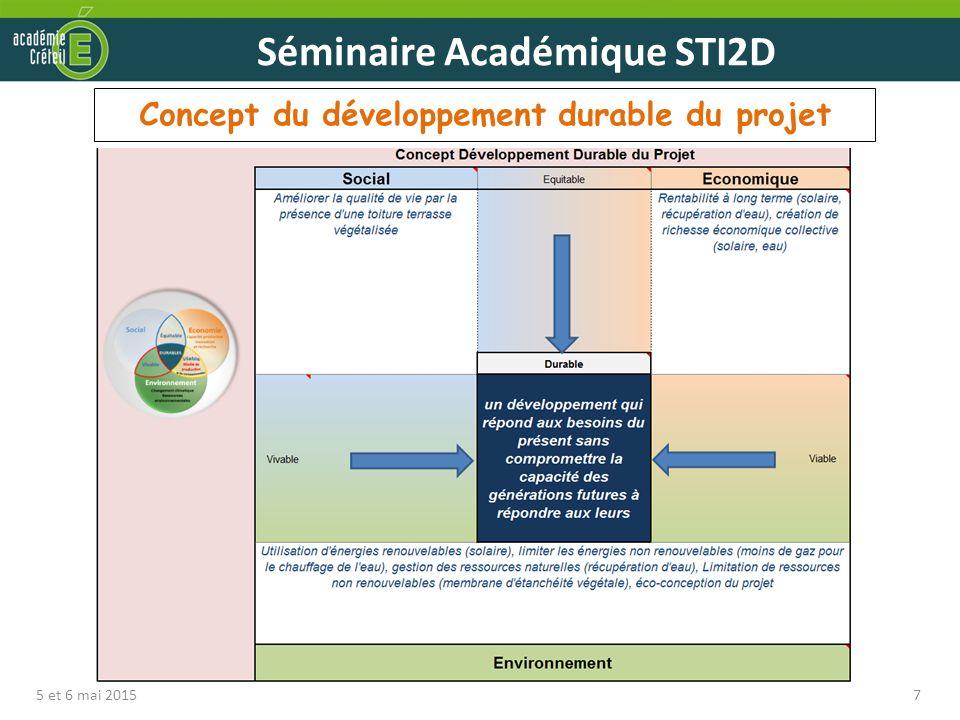 Concept du développement durable du projet