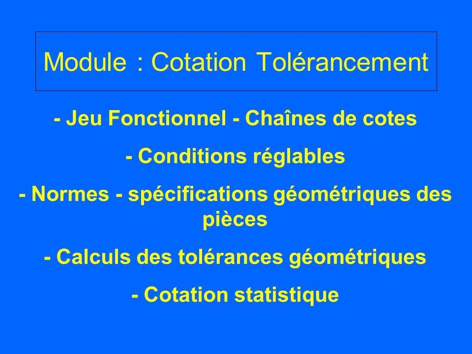 Module : Cotation Tolérancement