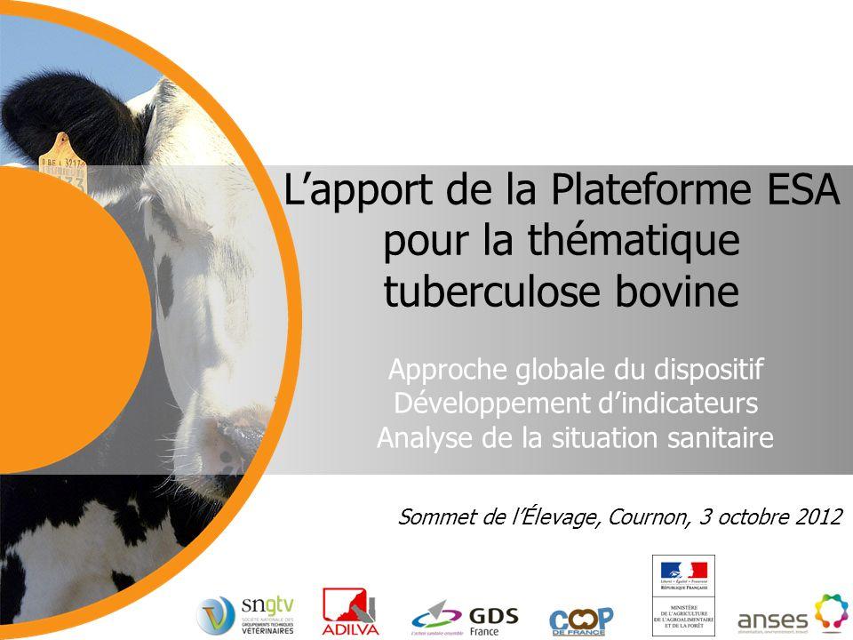 L'apport de la Plateforme ESA pour la thématique tuberculose bovine