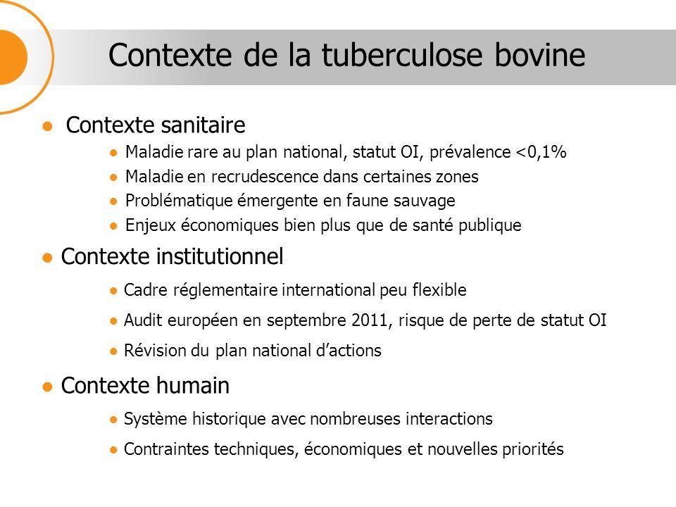 Contexte de la tuberculose bovine