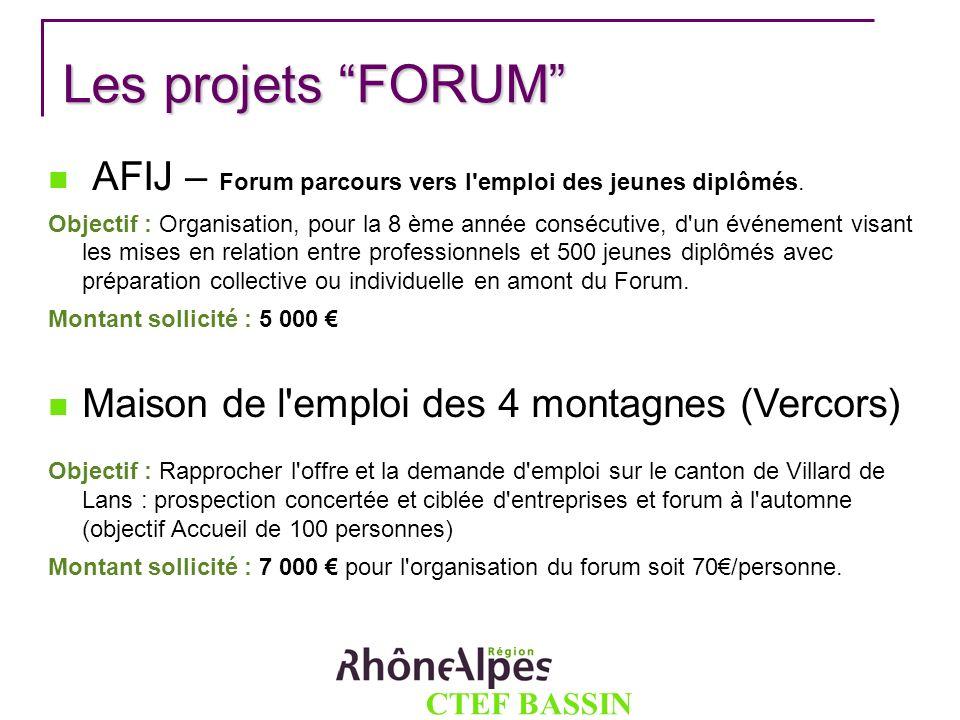 Les projets FORUM AFIJ – Forum parcours vers l emploi des jeunes diplômés.