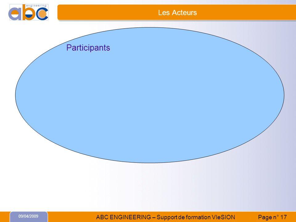Les Acteurs Participants 09/04/2009