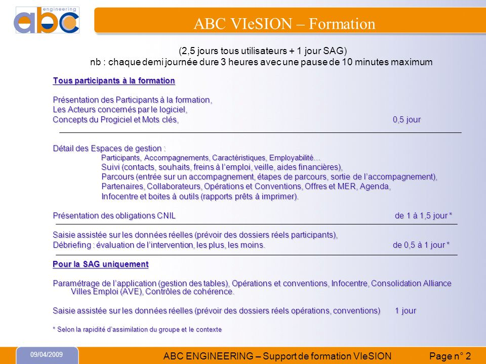 ABC VIeSION – Formation