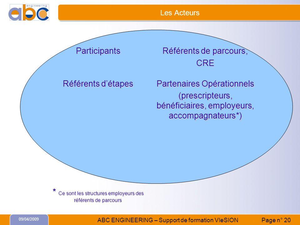 * Ce sont les structures employeurs des référents de parcours