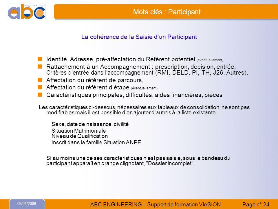 Mots clés : Participant