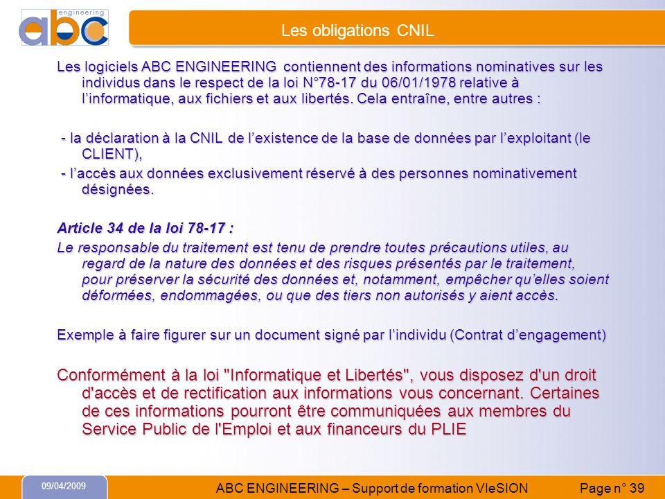 Les obligations CNIL