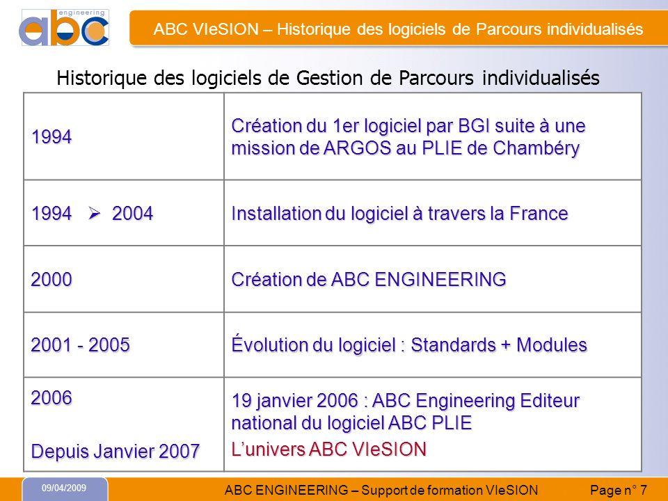 ABC VIeSION – Historique des logiciels de Parcours individualisés