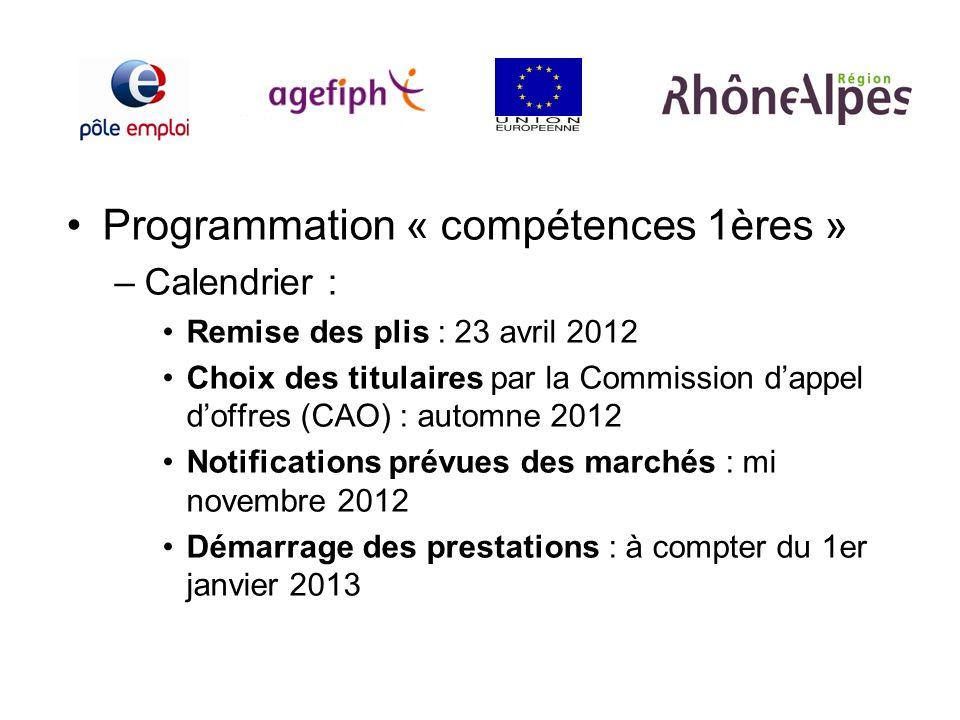 Programmation « compétences 1ères »