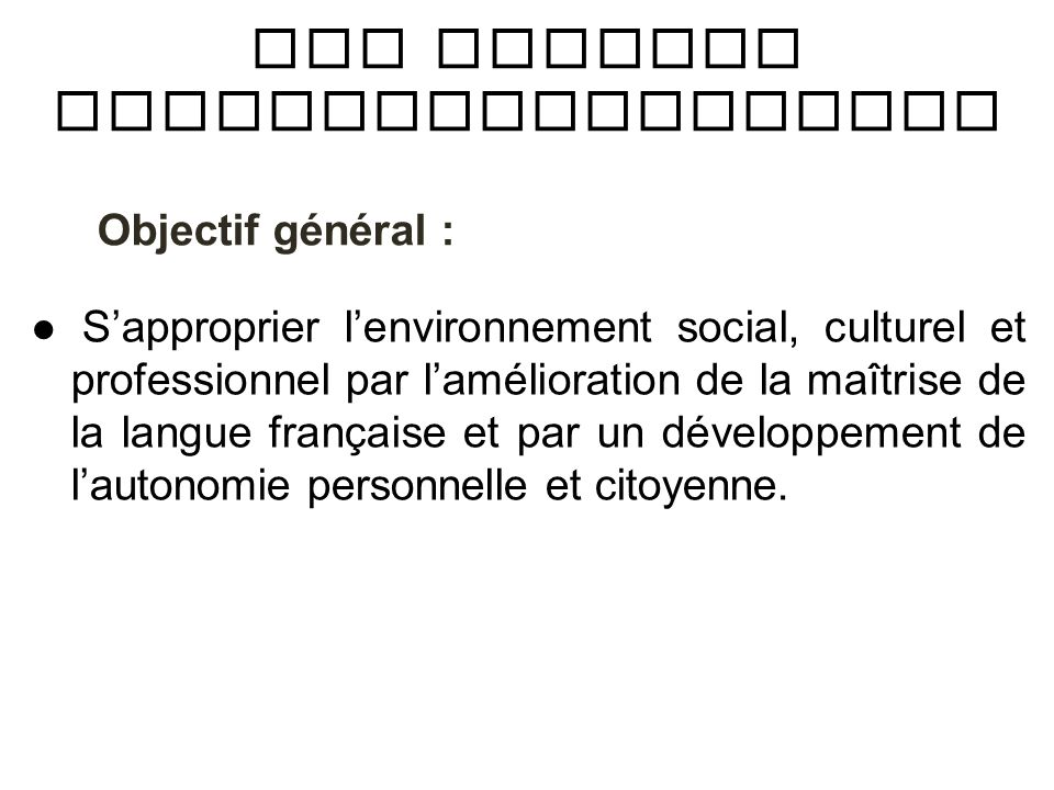 Les Actions Sociolinguistiques