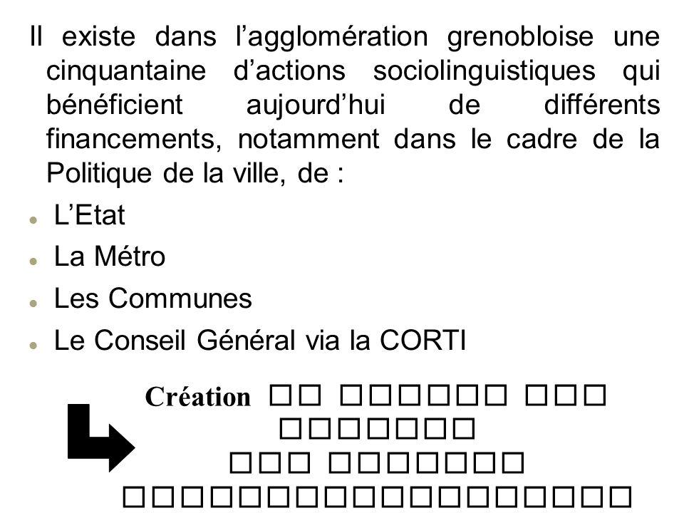 Création du Cahier des Charges des Actions Sociolinguistiques