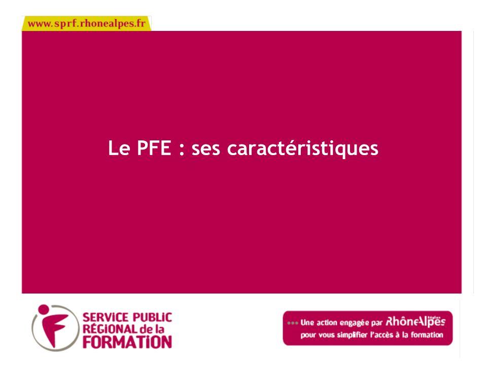 Le PFE : ses caractéristiques