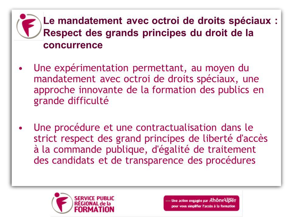 Le mandatement avec octroi de droits spéciaux : Respect des grands principes du droit de la concurrence