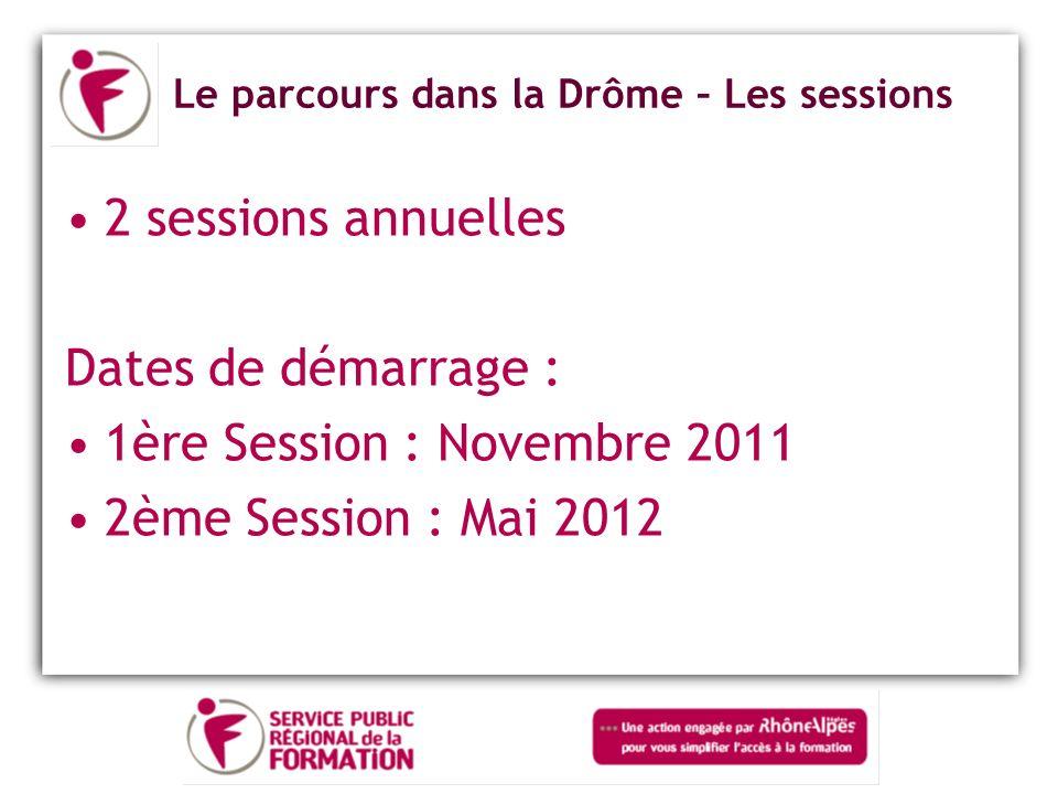 Le parcours dans la Drôme – Les sessions
