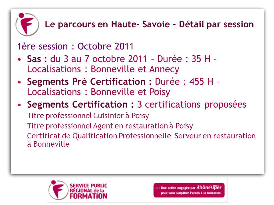 Segments Certification : 3 certifications proposées