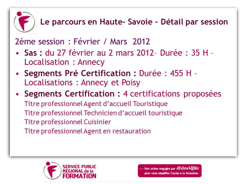 2ème session : Février / Mars 2012