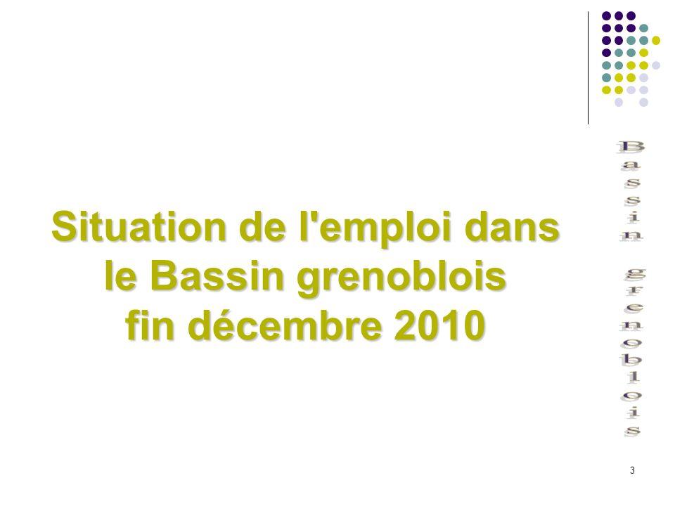 Situation de l emploi dans le Bassin grenoblois fin décembre 2010