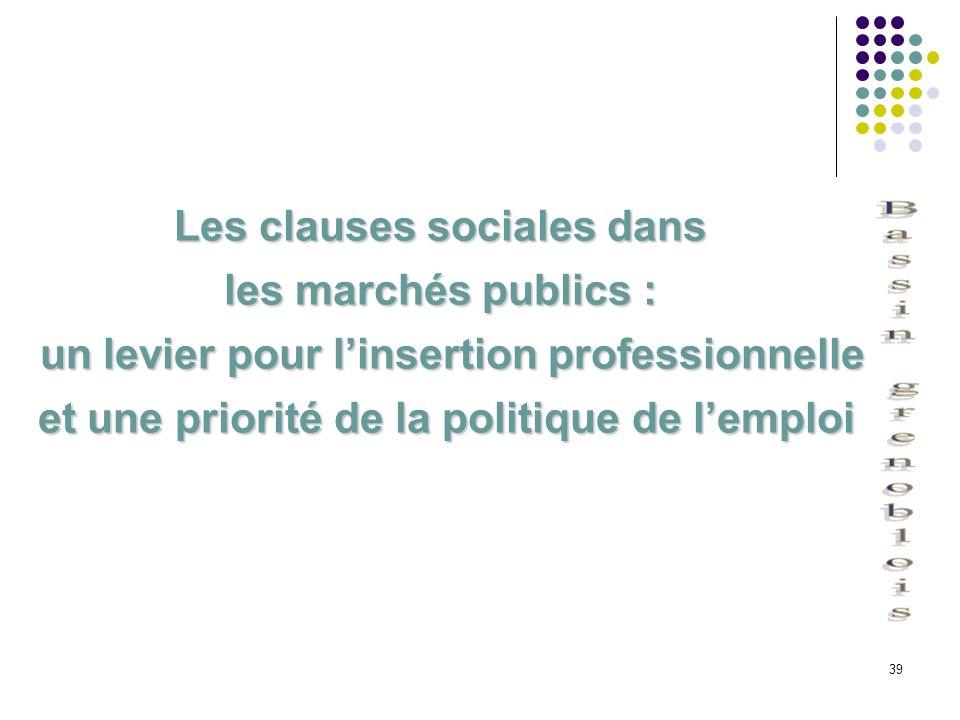 Les clauses sociales dans les marchés publics :