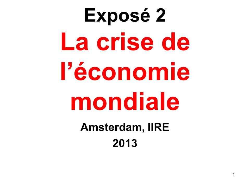 Exposé 2 La crise de l'économie mondiale
