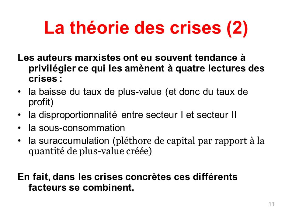 La théorie des crises (2)