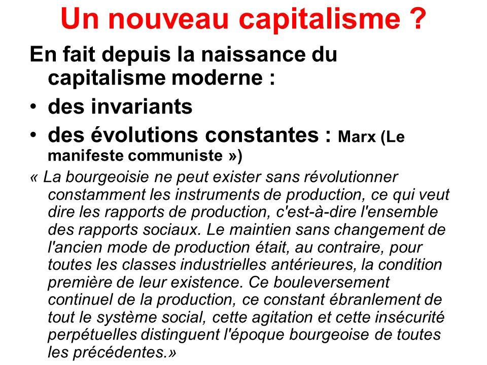 Un nouveau capitalisme