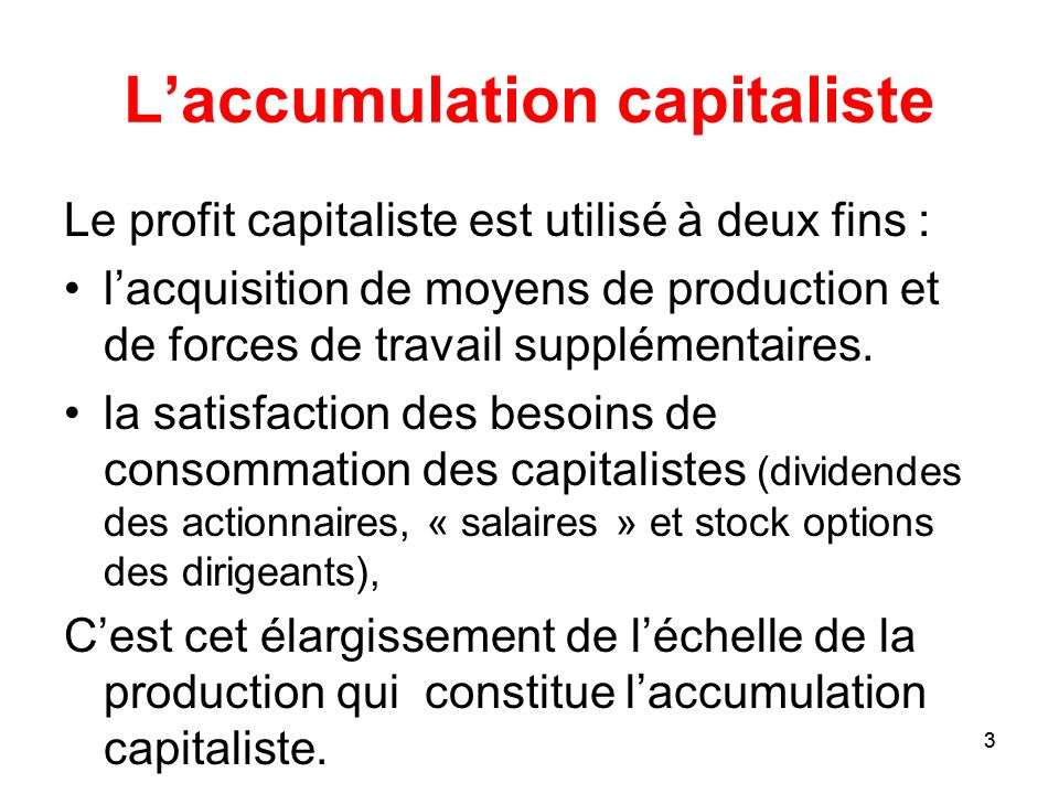 L'accumulation capitaliste