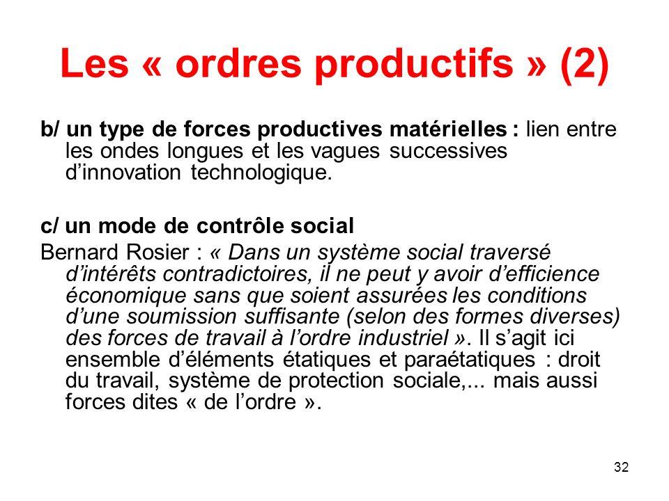 Les « ordres productifs » (2)