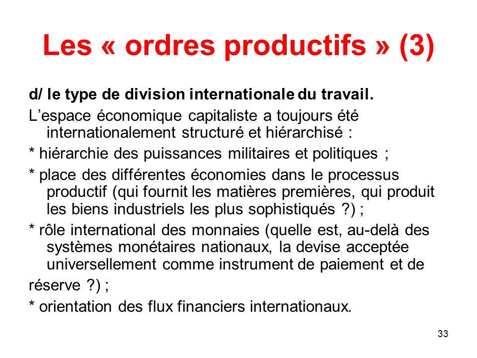 Les « ordres productifs » (3)