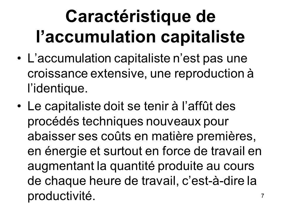 Caractéristique de l'accumulation capitaliste