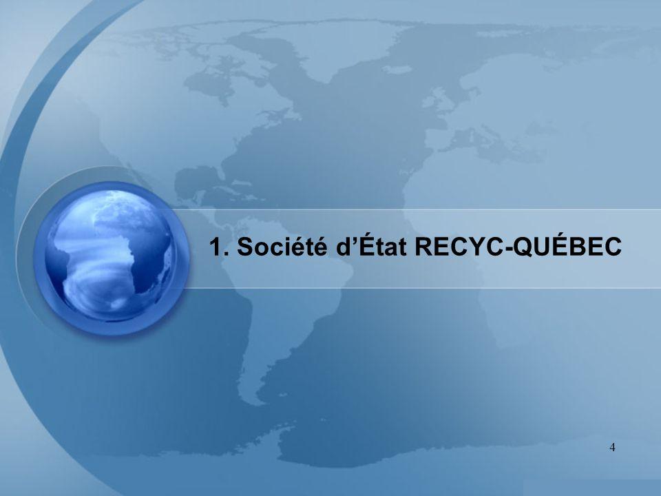1. Société d'État RECYC-QUÉBEC