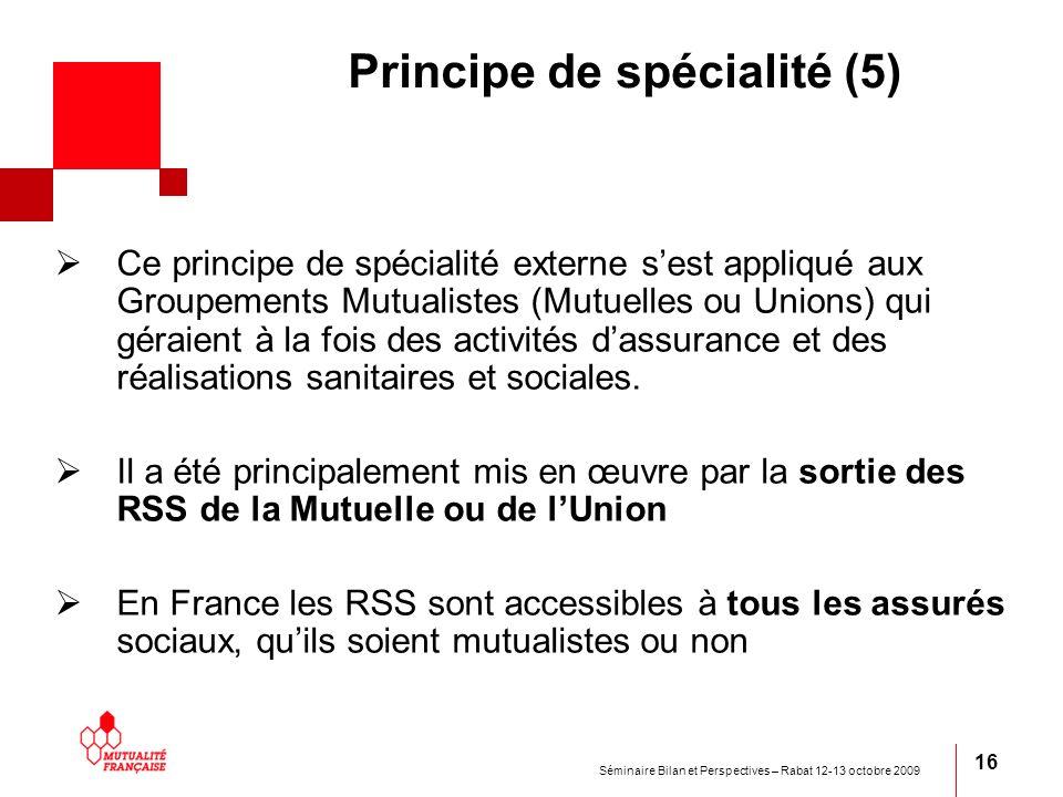 Principe de spécialité (5)