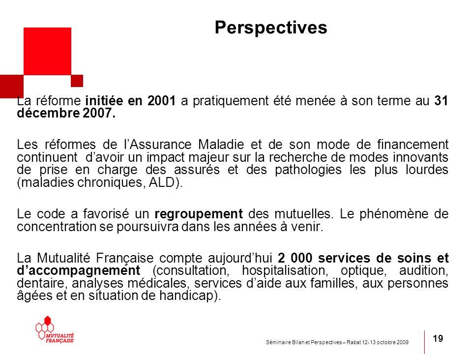 Perspectives La réforme initiée en 2001 a pratiquement été menée à son terme au 31 décembre 2007.