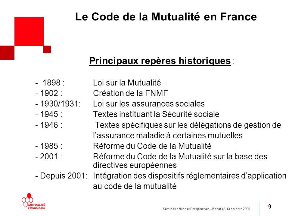 Le Code de la Mutualité en France