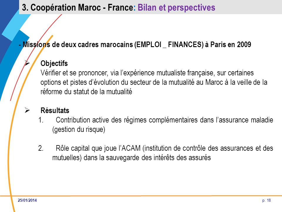 3. Coopération Maroc - France: Bilan et perspectives