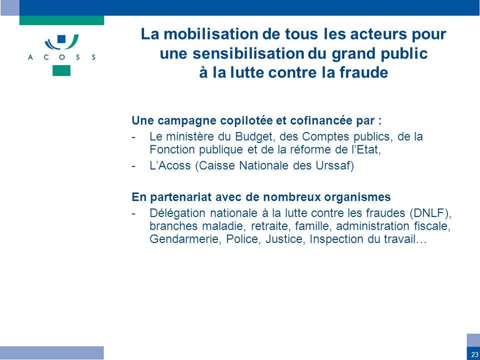 La mobilisation de tous les acteurs pour une sensibilisation du grand public à la lutte contre la fraude